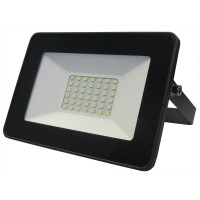 Led slim reflektor 30W IP65 6500K crni